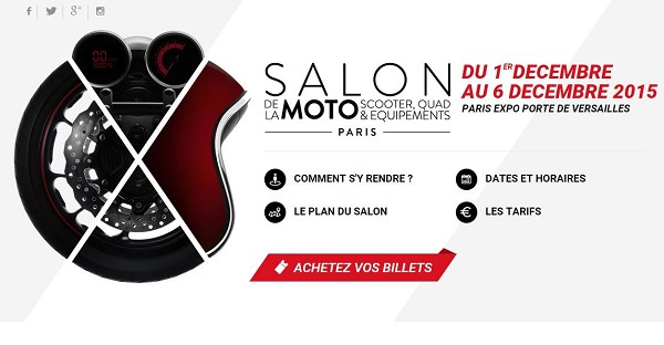 affiche salon moto paris
